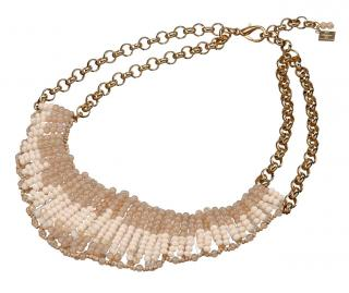 Collier goldfarben-nude