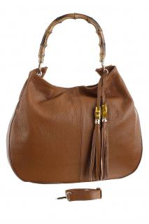 Leder-Hobo-Bag cognac