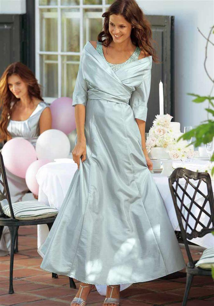 Abendkleid mit Jacke silbergrau | Abendmode | Outlet Mode-Shop