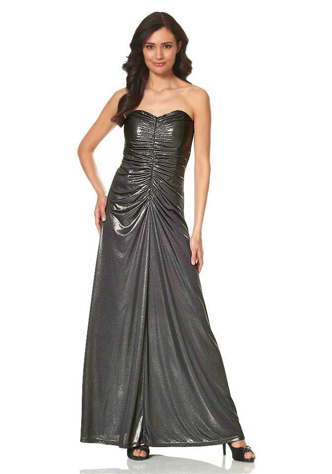 Abendkleid schwarz-metallic | Abendmode | Outlet Mode-Shop