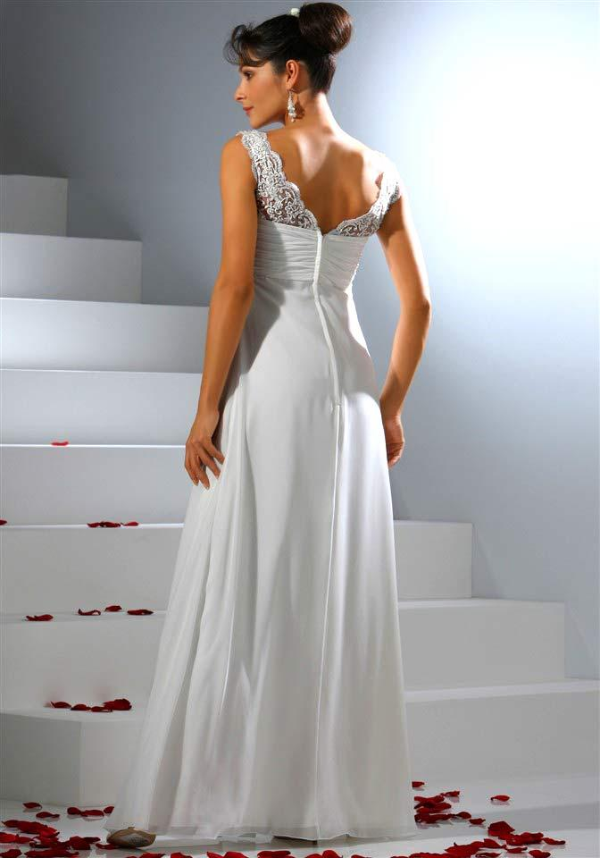 Babydoll-Brautkleid mit Spitze weiß  Abendmode  Outlet Mode-Shop