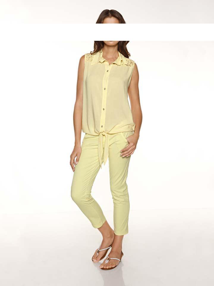 89a09d1f32dd Bluse mit Spitze vanille   Blusen   Tuniken   Outlet Mode-Shop