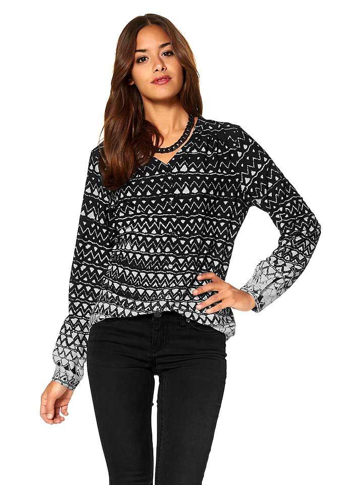 Extrem Bluse schwarz-weiß   Blusen   Tuniken   Outlet Mode-Shop YW89 23ac2ebebd