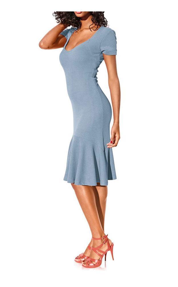 Bodyforming-Kleid hellblau Gr. 46 | Kleider | Outlet Mode-Shop