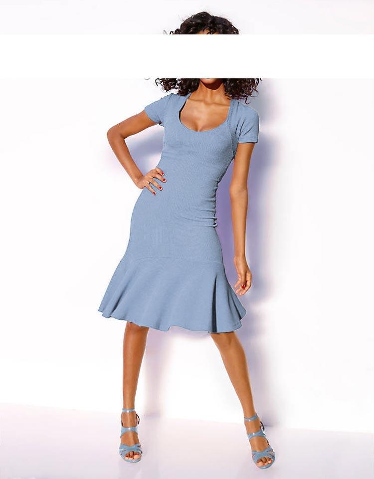 Bodyforming-Kleid hellblau Gr. 46   Kleider   Outlet Mode-Shop