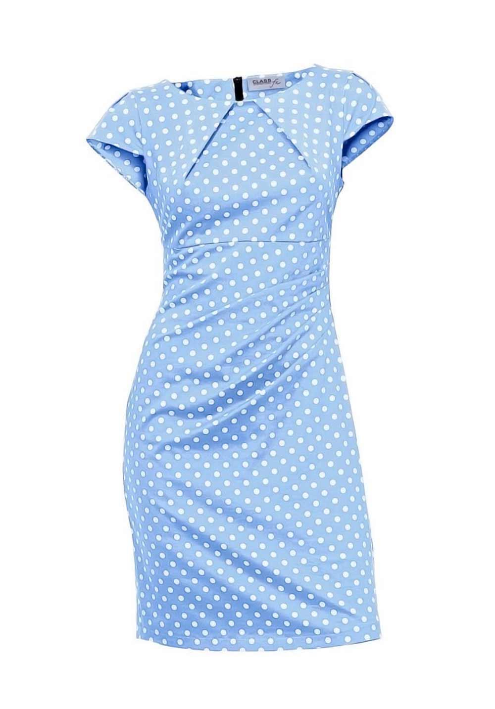 Bodyforming-Kleid hellblau-weiß | Neuheiten | Outlet Mode-Shop