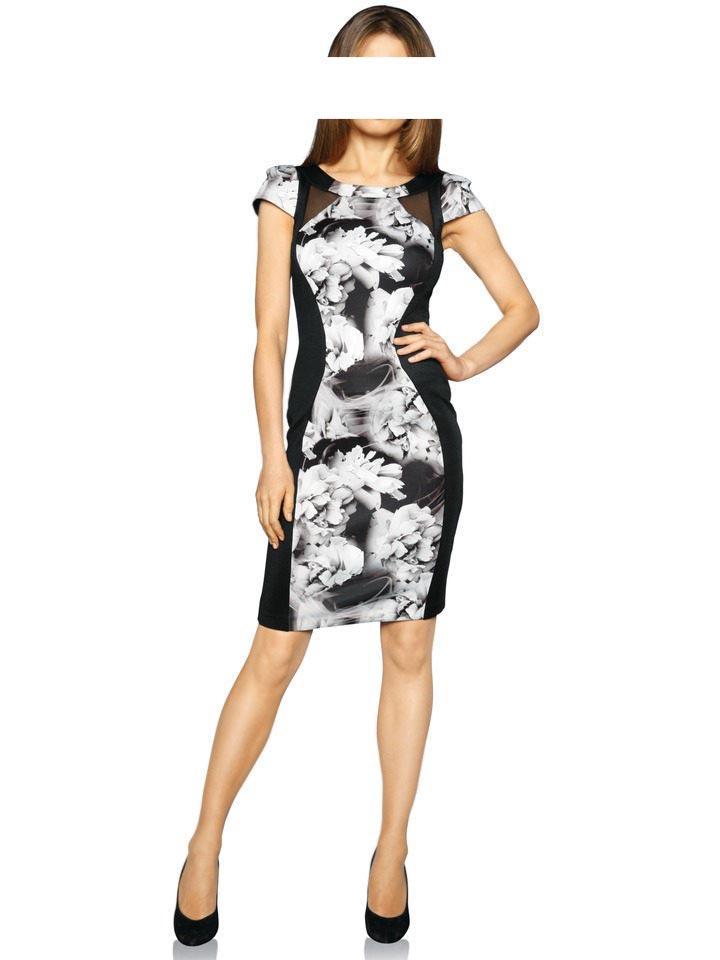 8af9edeee961 Bodyforming-Kleid schwarz-grau   Kleider   Outlet Mode-Shop