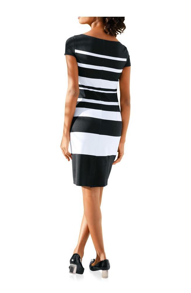 Bodyforming-Kleid schwarz-weiß   Kleider   Outlet Mode-Shop
