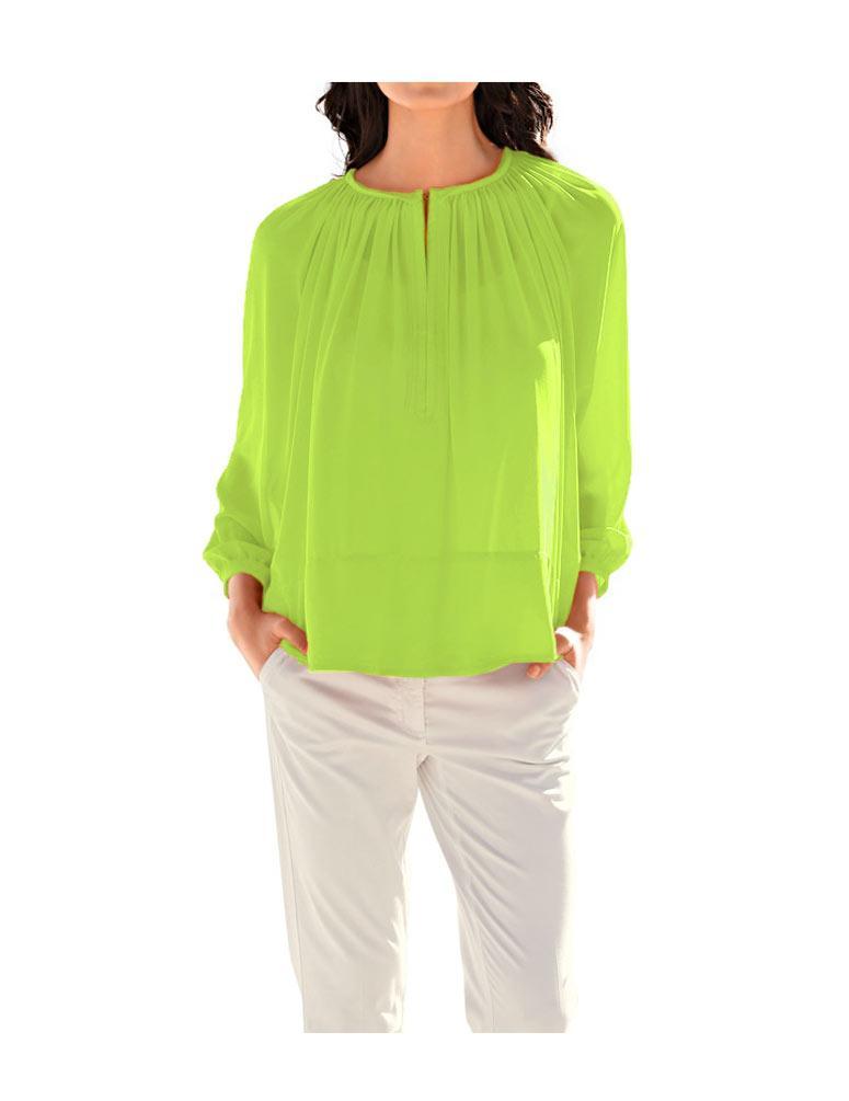 5854a453fb57 Chiffon-Bluse limette   Blusen   Tuniken   Outlet Mode-Shop