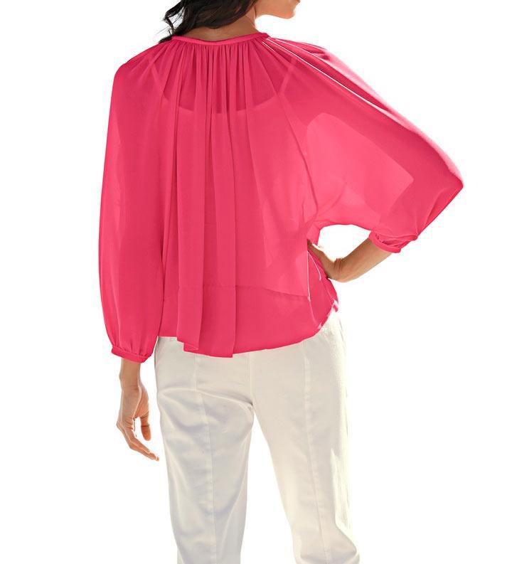 99190032fc73 Chiffon-Bluse pink   Blusen   Tuniken   Outlet Mode-Shop