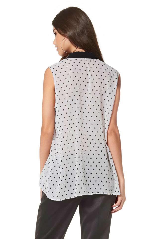 8399603376bc Chiffonbluse schwarz-weiß   Blusen   Tuniken   Outlet Mode-Shop