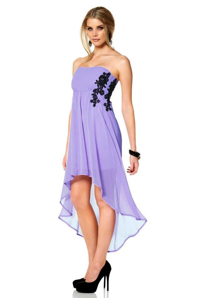 Cocktail-Chiffon-Kleid flieder | Abendmode | Outlet Mode-Shop