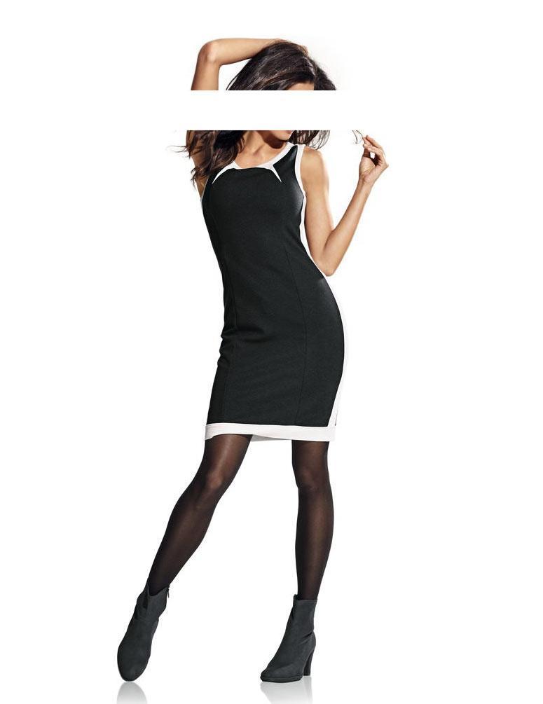 c07061bf67dd Colourblocking-Kleid schwarz-weiß   Kleider   Outlet Mode-Shop