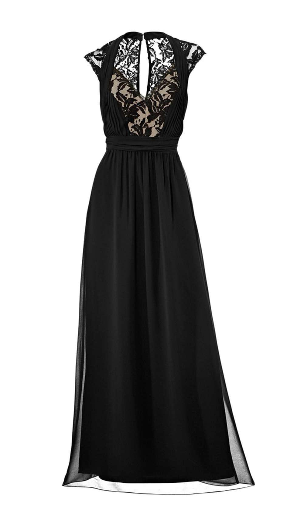 Designer-Abendkleid mit Spitze schwarz | Abendmode | Outlet Mode-Shop