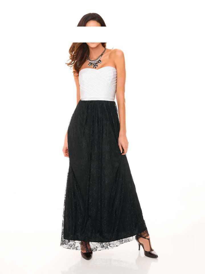 Designer-Abendkleid schwarz-weiß | Abendmode | Outlet Mode ...