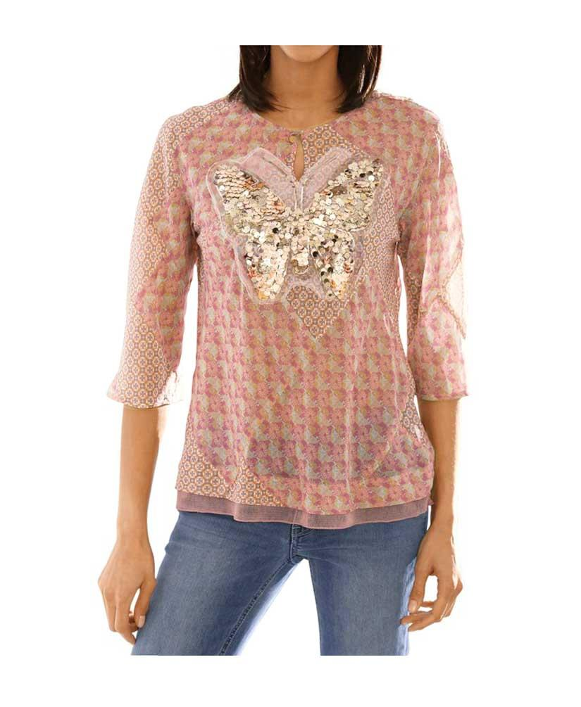 f92f2c0c5e15 Designer-Bluse mit Pailletten bunt   Blusen   Tuniken   Outlet Mode-Shop