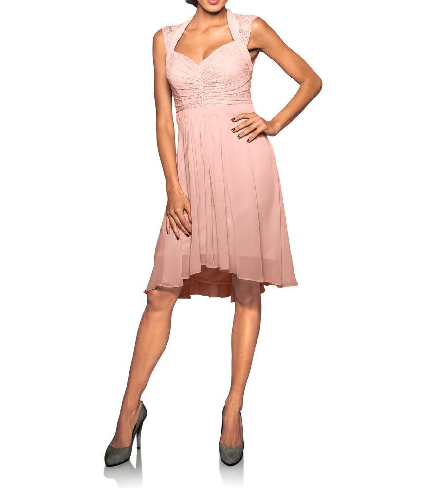 Designer-Cocktailkleid rosé | Abendmode | Outlet Mode-Shop