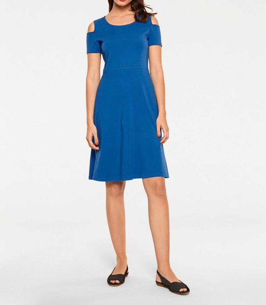 Jersey kleid royalblau