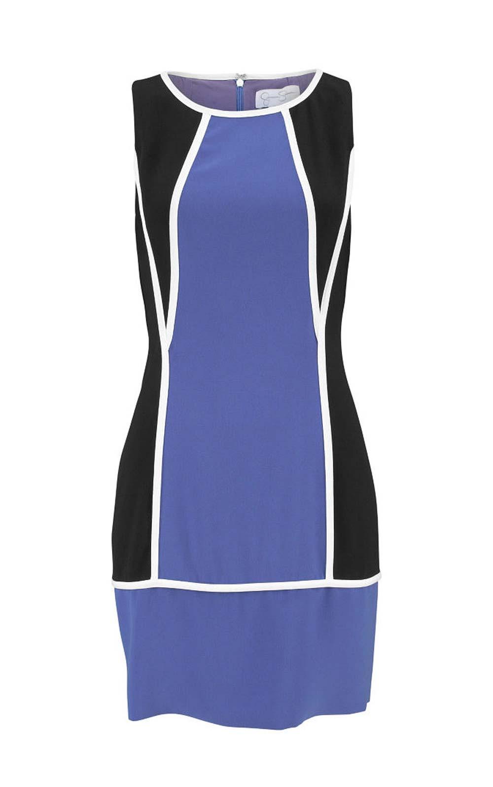 Designer kleid schwarz blau
