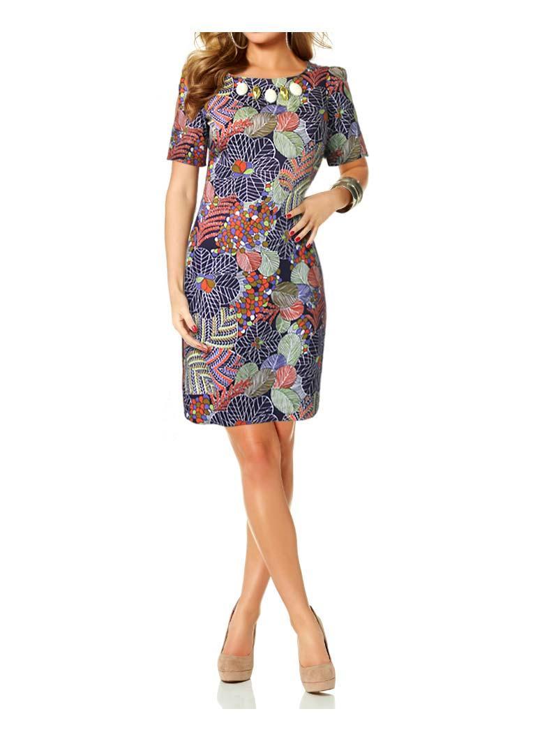 Designer-Kleid bunt   Kleider   Outlet Mode-Shop 94144483b0