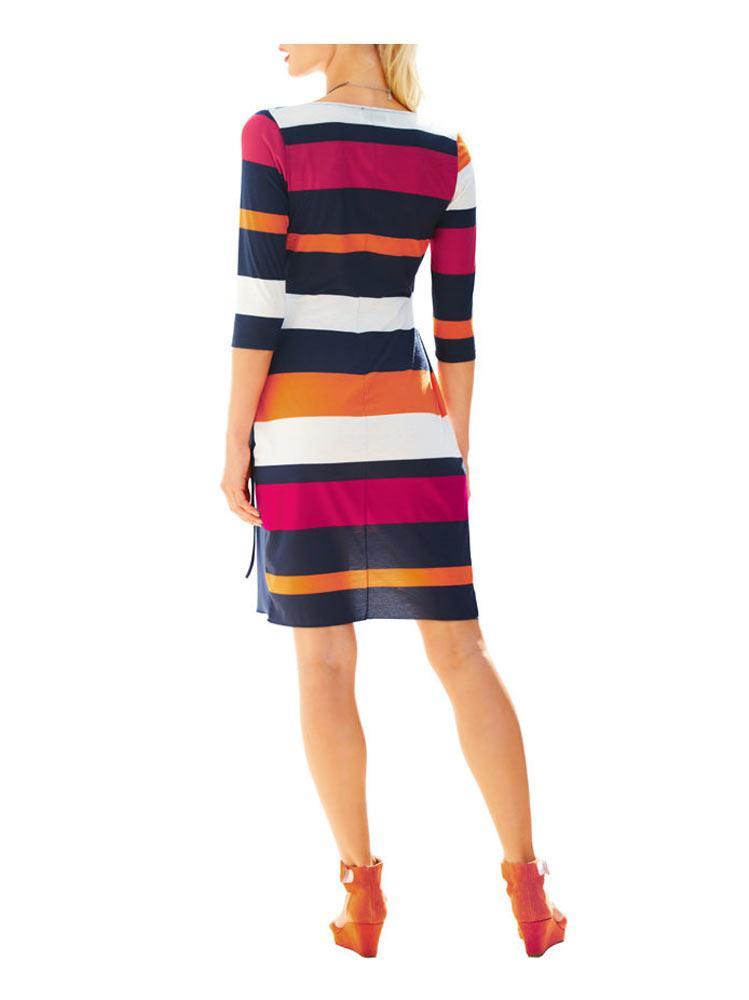 kleid gestreift bunt - stylische kleider für jeden tag