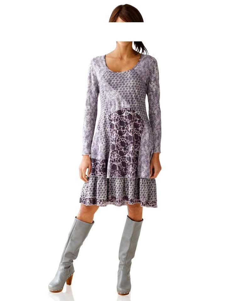 87e5eb864dd2 Designer-Kleid flieder-grau   Kleider   Outlet Mode-Shop