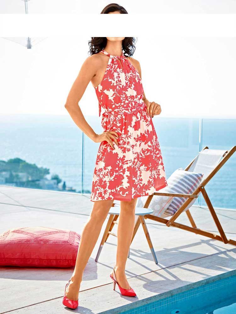 Designer-Kleid koralle | Kleider | Outlet Mode-Shop