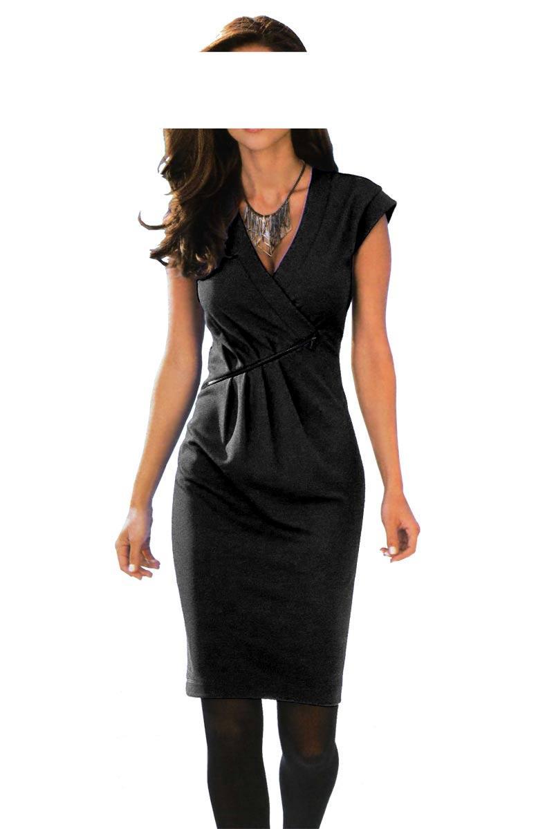 5ad1a07ec9b2 Designer-Kleid schwarz Gr. 46   Kleider   Outlet Mode-Shop