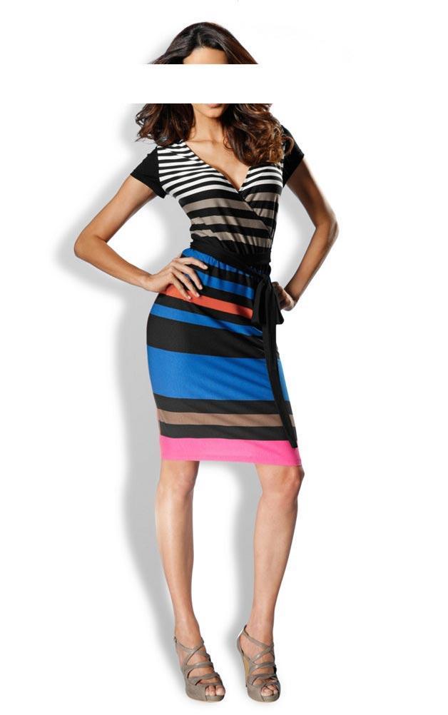 Designer-Kleid schwarz-blau-bunt   Kleider   Outlet Mode-Shop 7fa4500c7b