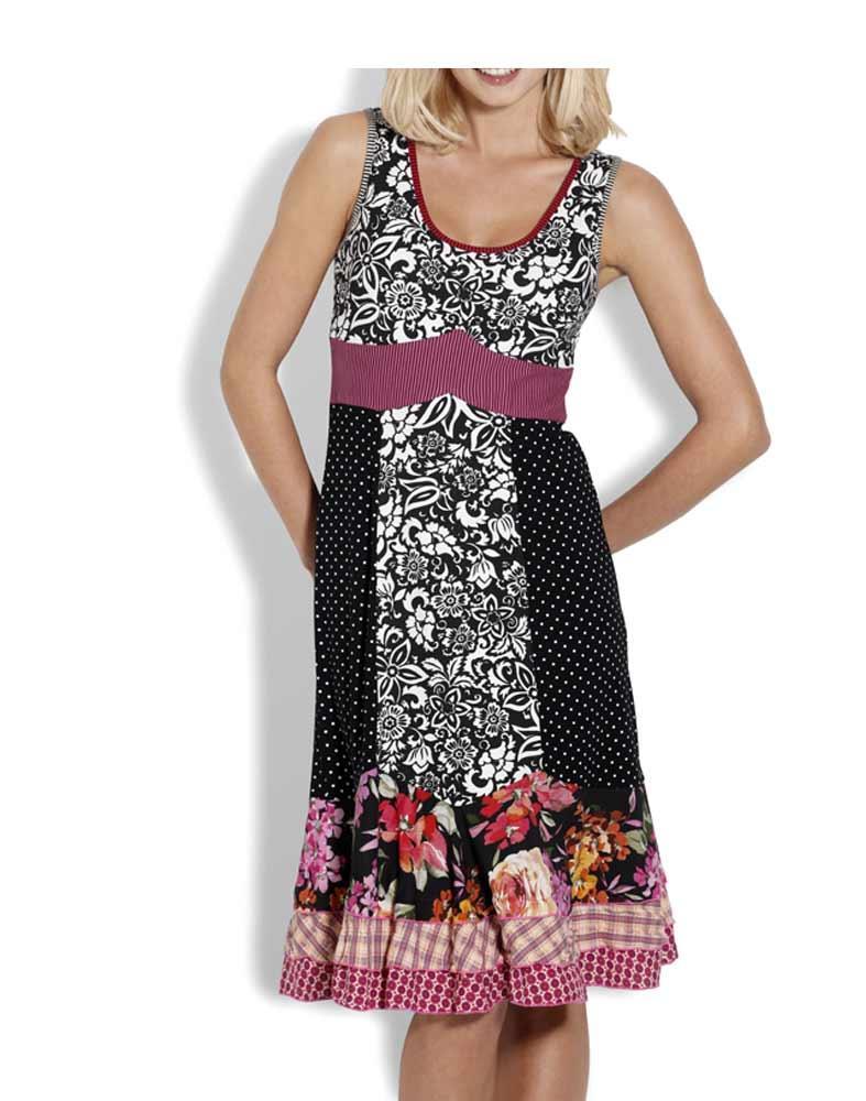 Designer-Kleid schwarz-bunt   Kleider   Outlet Mode-Shop e03cab42e4
