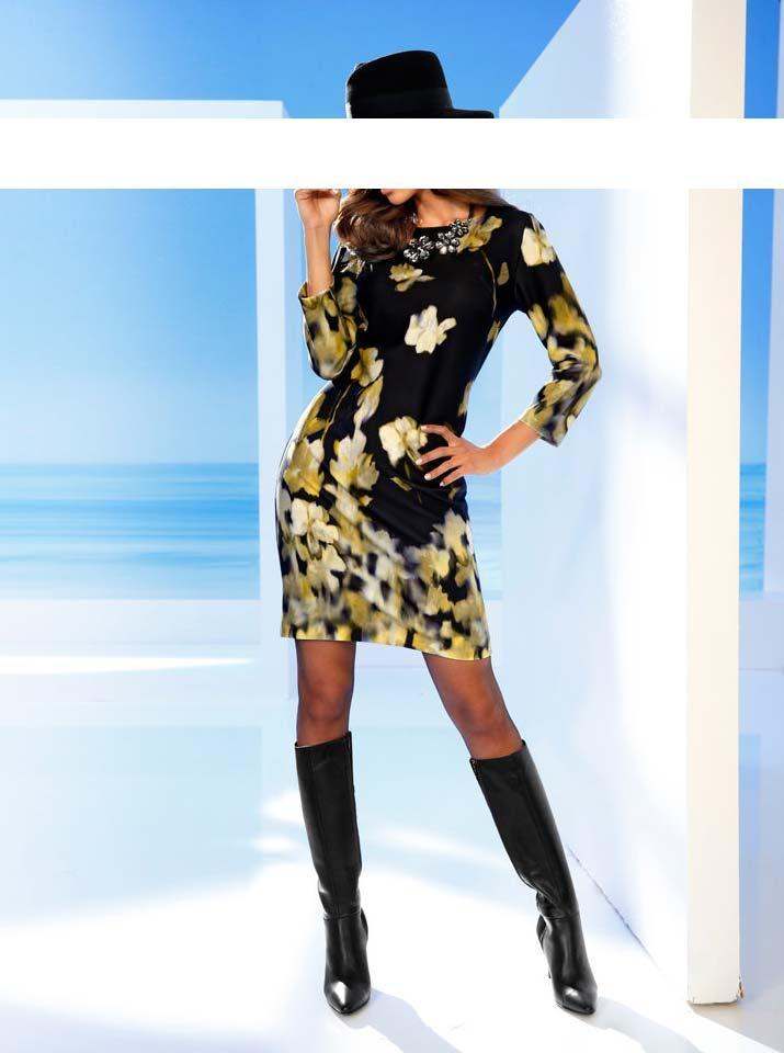 Designer kleid schwarz weib