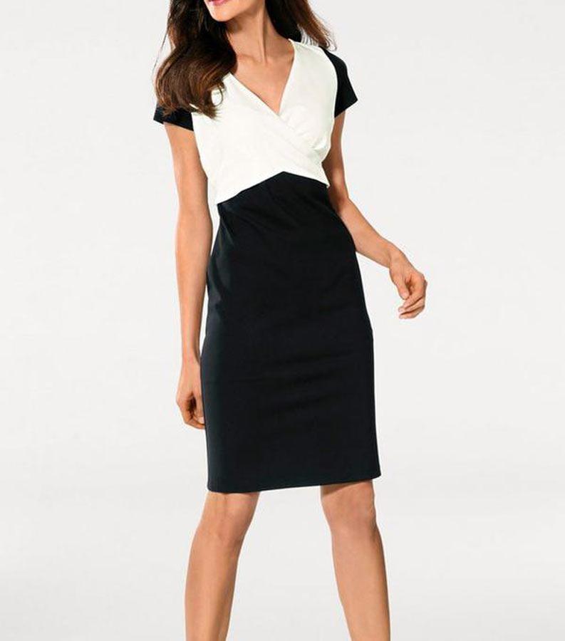 Designer Kleid Schwarz Offweiss Kleider Outlet Mode Shop