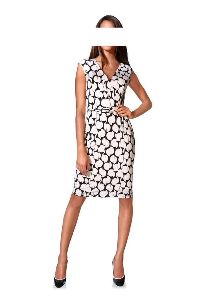 Designer-Kleid schwarz-weiß | Kleider | Outlet Mode-Shop