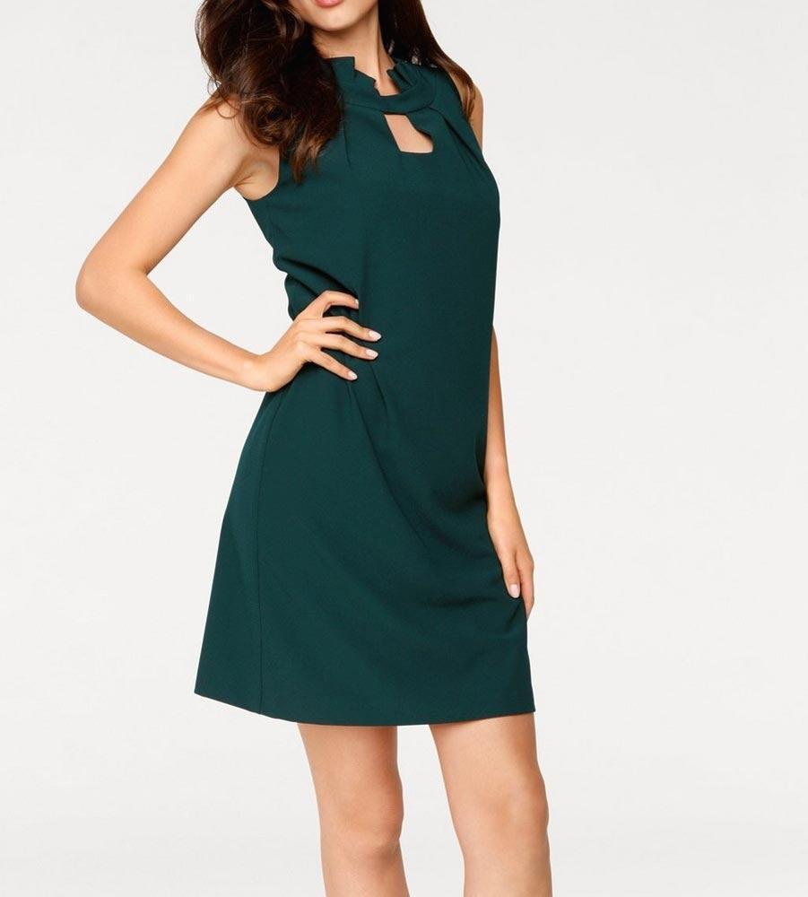 Designer-Kleid tannengrün  Kleider  Outlet Mode-Shop