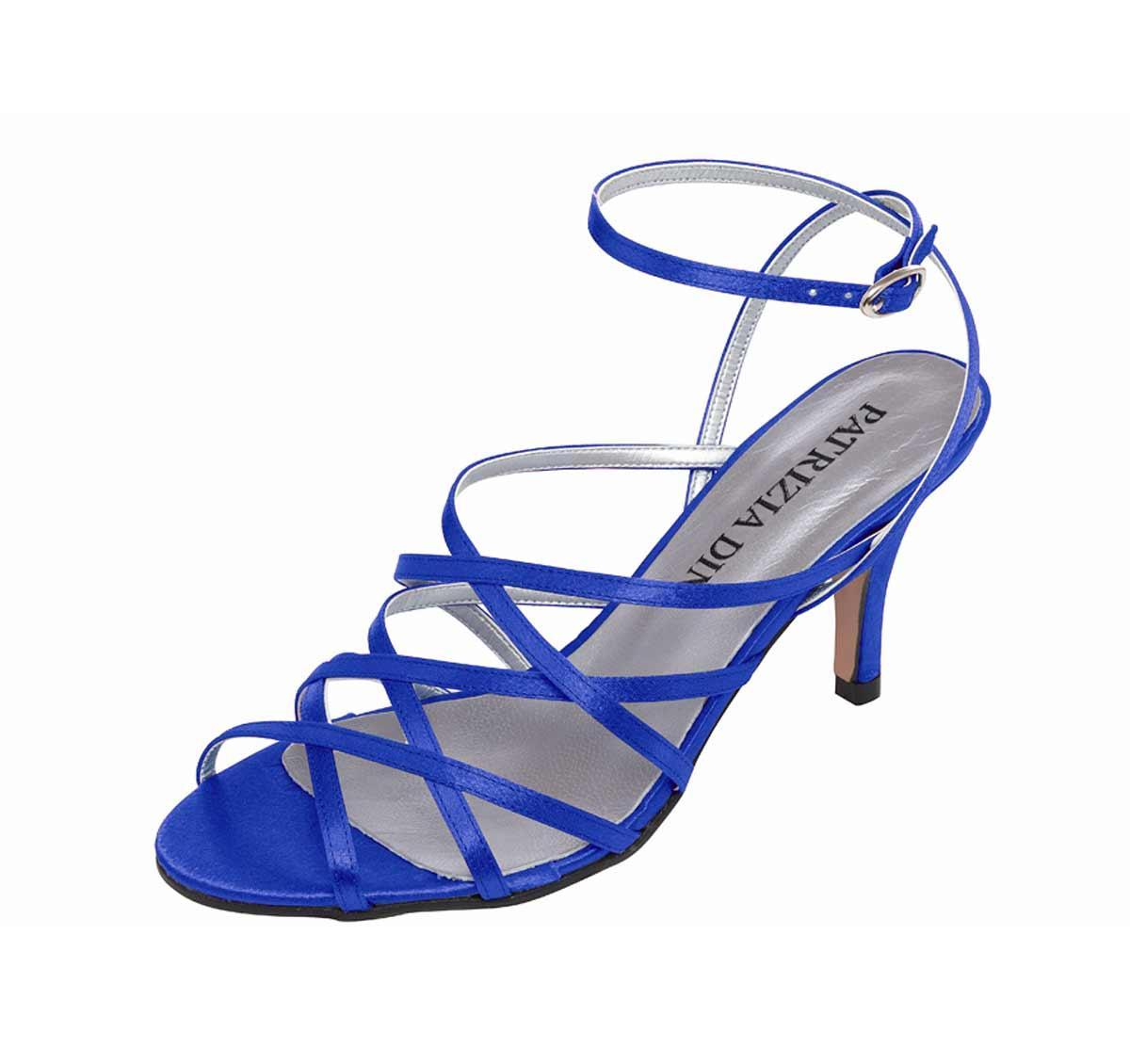 72358cdf5d3f Designer-Sandalette royalblau   Schuhe   Outlet Mode-Shop