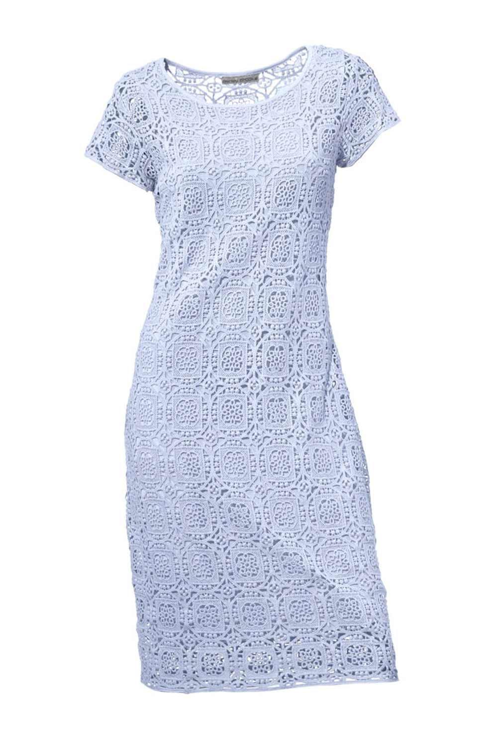 designer spitzenkleid hellblau kleider outlet mode shop