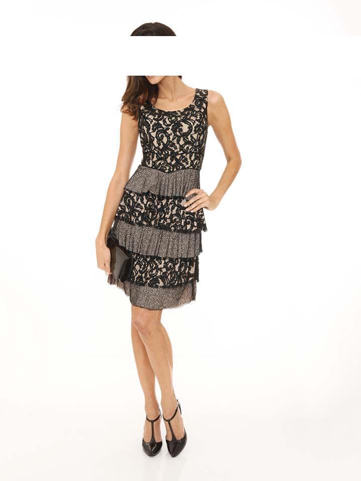 Designer-Spitzenkleid schwarz Gr. 46 | Kleider | Outlet ...