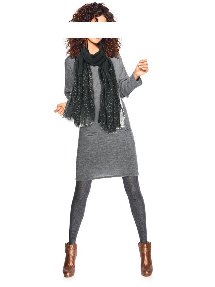 2498c0c293d3 Designer-Strickkleid grau   Kleider   Outlet Mode-Shop