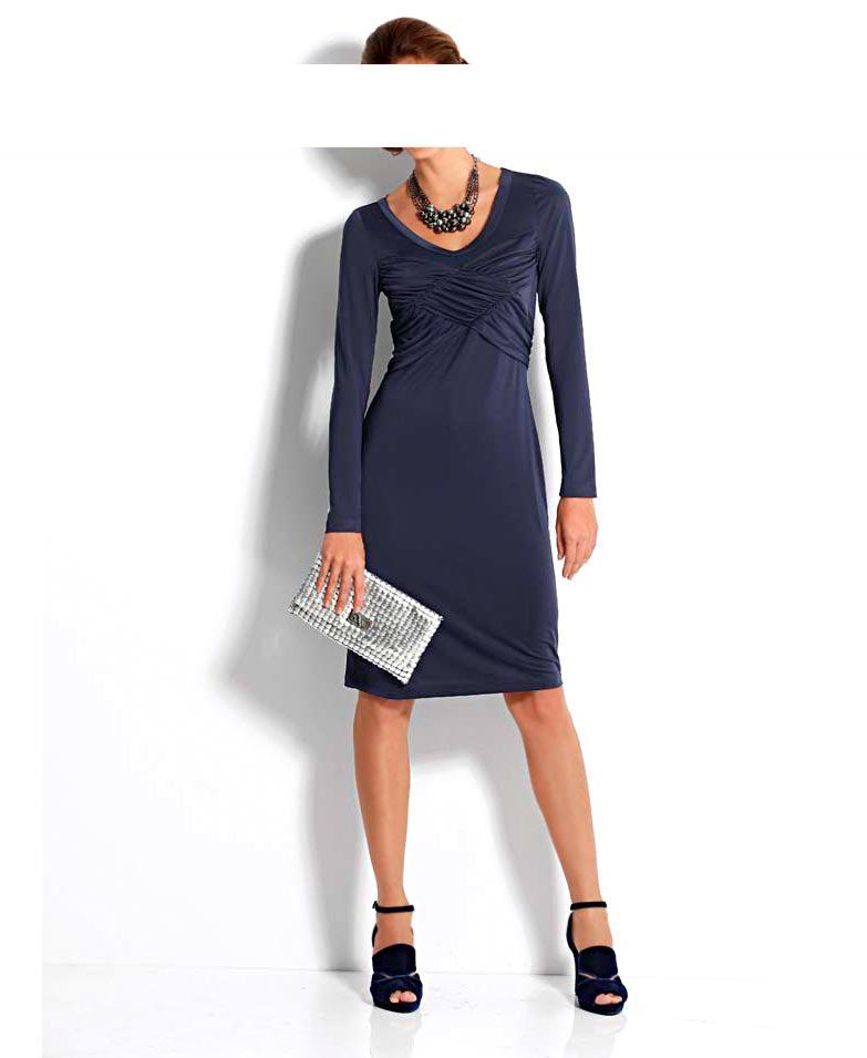 Kleid Shop Drapé Mode nachtblauKleiderOutlet Drapé 0P8wNnXOkZ