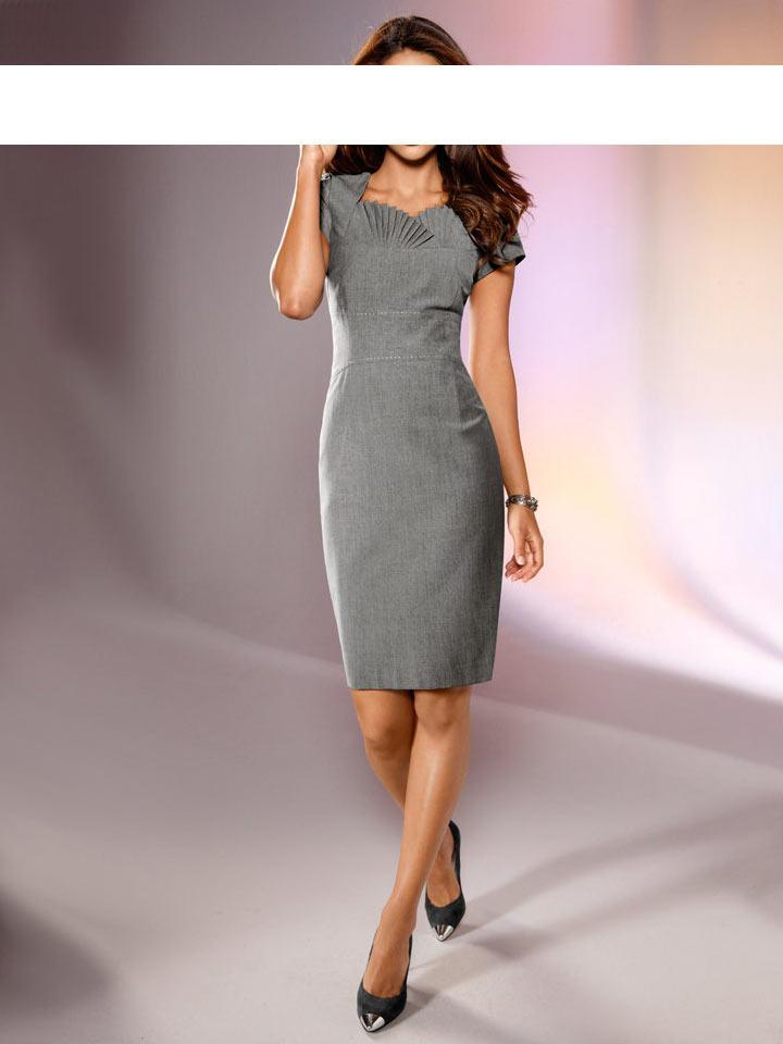 19db171a63d1 Etuikleid grau   Kleider   Outlet Mode-Shop