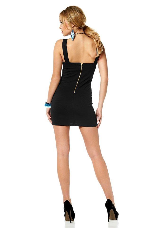 Kleid mit Nieten schwarz | Schnäppchen | Outlet Mode-Shop