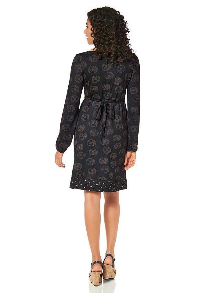 Kleid schwarz mit braun