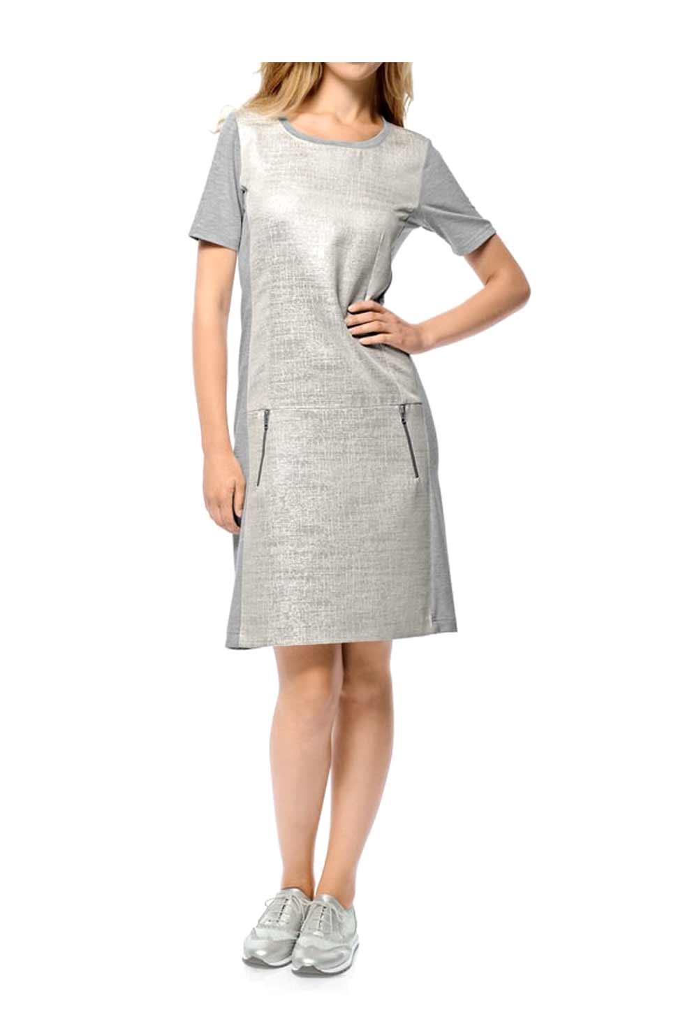 Kleid silber-grau | Kleider | Outlet Mode-Shop