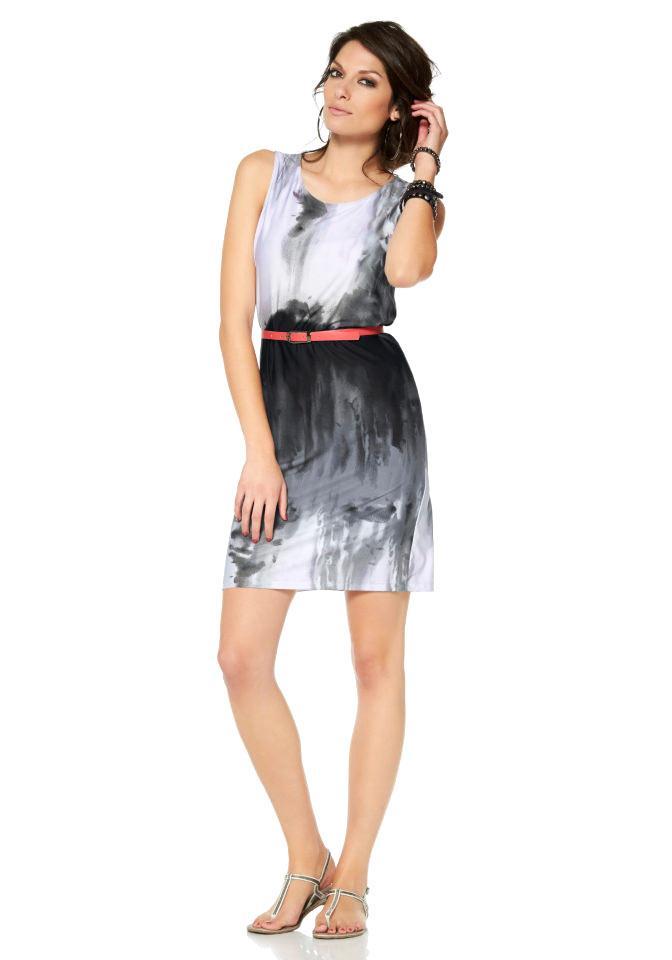 798e114a1547 Kleid weiß-grau-schwarz   Kleider   Outlet Mode-Shop