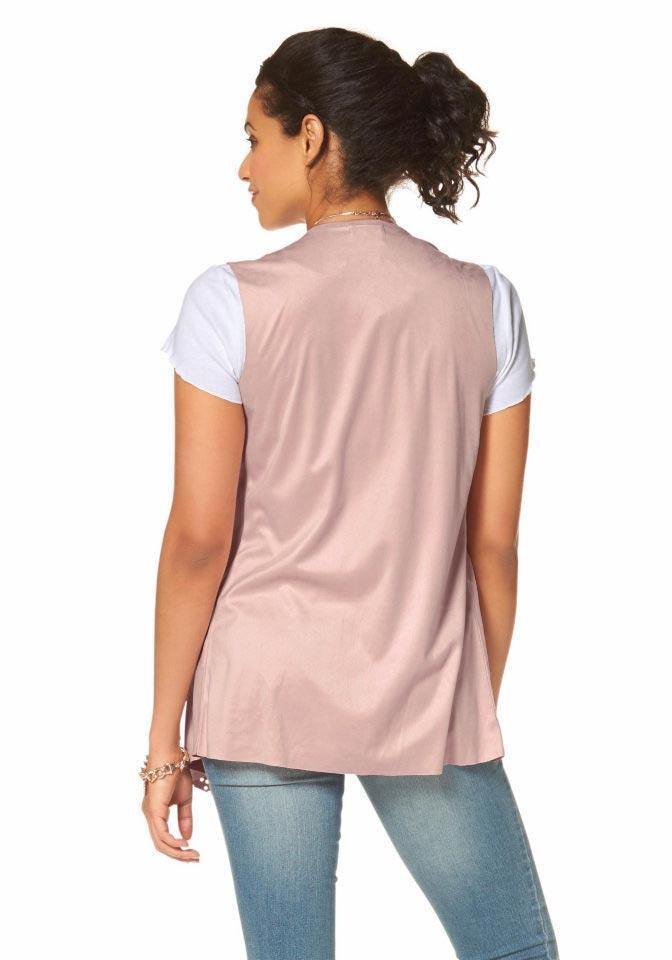 ziemlich billig klar in Sicht neu kaufen Lederimitat-Weste rosa | Shirts und Tops | Outlet Mode-Shop