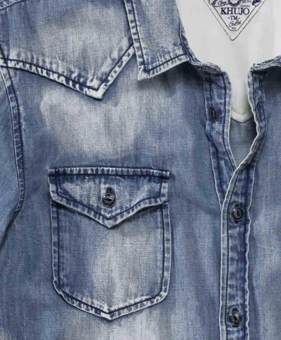 Marken-Herren-Jeanshemd blau used   Herren- Kinder-Mode   Outlet ... 4861c22a1a