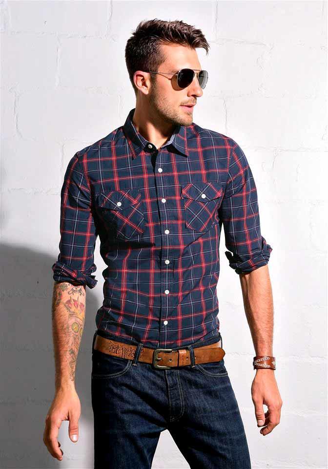 Мужские рубашки с чем носить