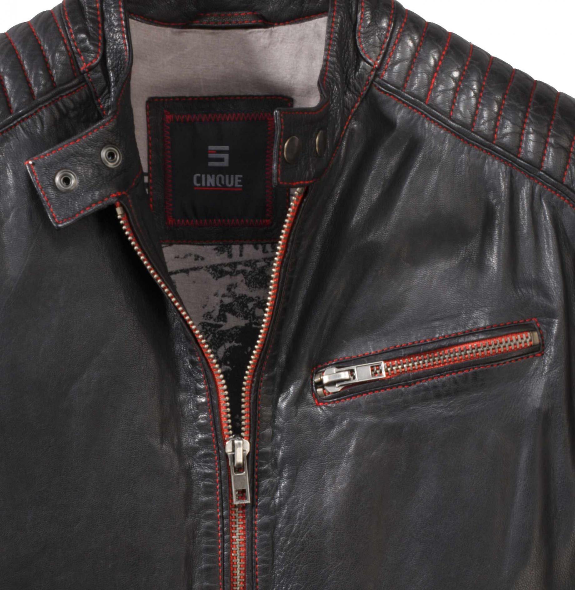 premium selection 9fa27 6a233 Marken-Herren-Lederjacke schwarz | Herren-/Kinder-Mode ...