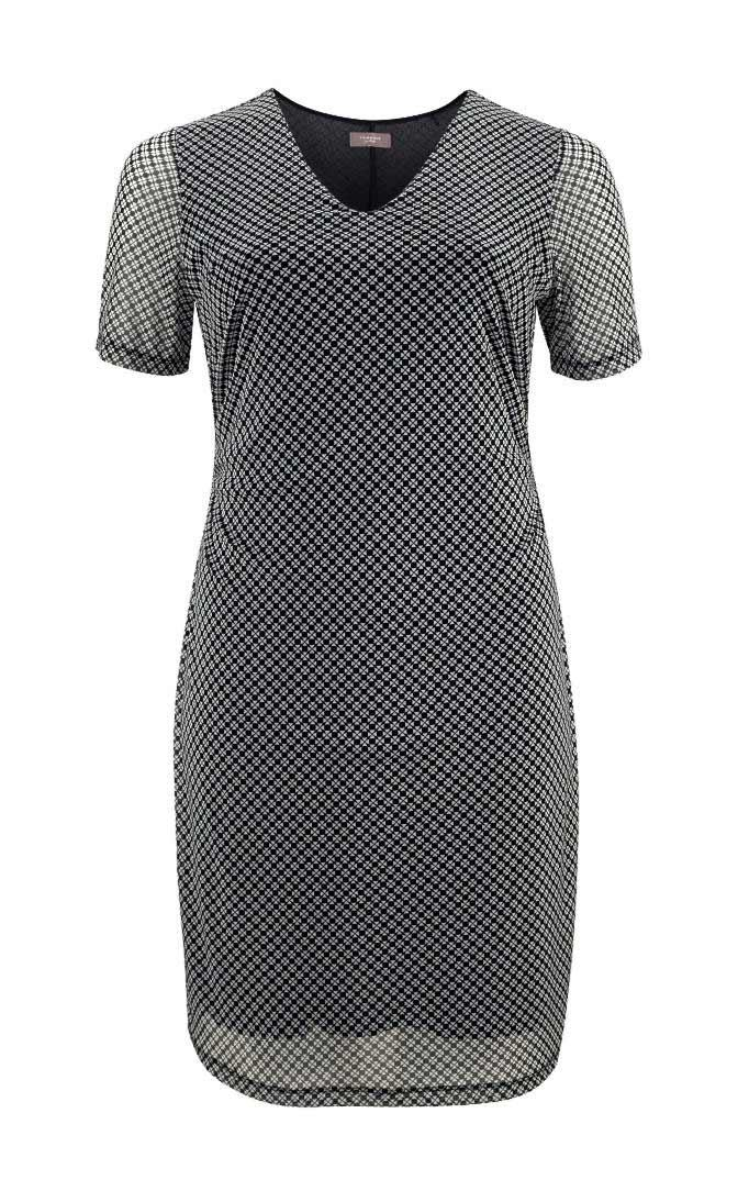 Kleid Schwarz Gr 48