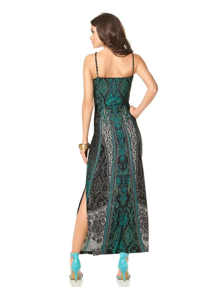 395a789eec21 Maxikleid grün-bunt   Kleider   Outlet Mode-Shop